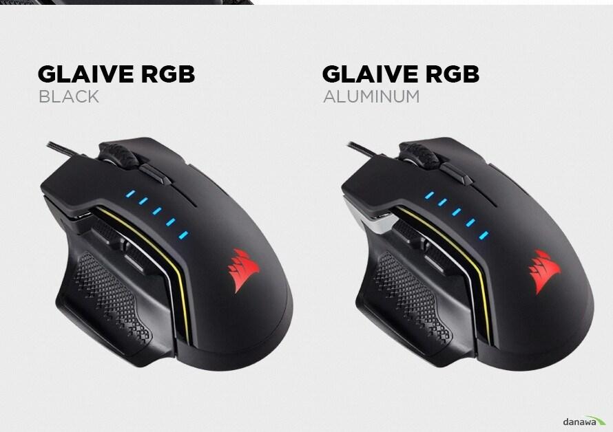 커세어 GLAIVE RGB Gaming Mouse 블랙커세어 GLAIVE RGB Gaming Mouse 알루미늄