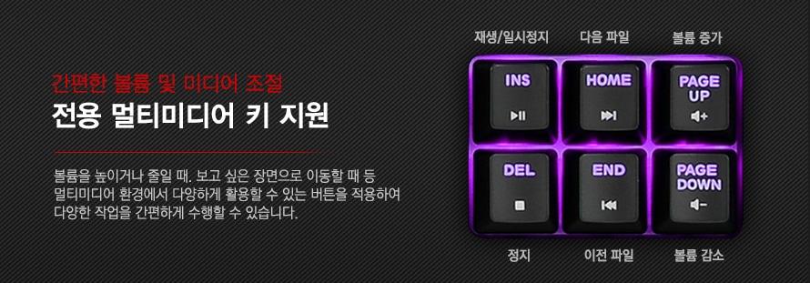 전용 멀티미디어 키 지원