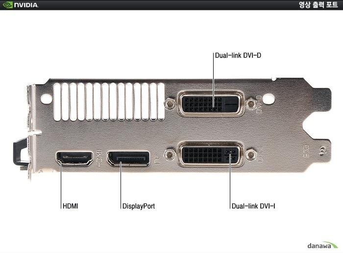 XENON 지포스 GTX760 JETSTREAM D5 2GB의 백 패널 확대 이미지컷