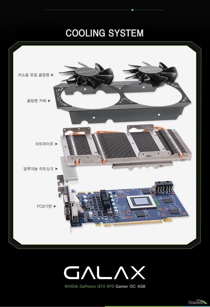 GTX970 Gamer OC 쿨링시스템 설명