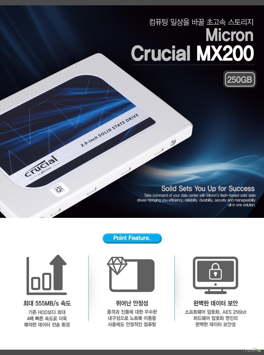 마이크론 Crucial MX200 (250GB)