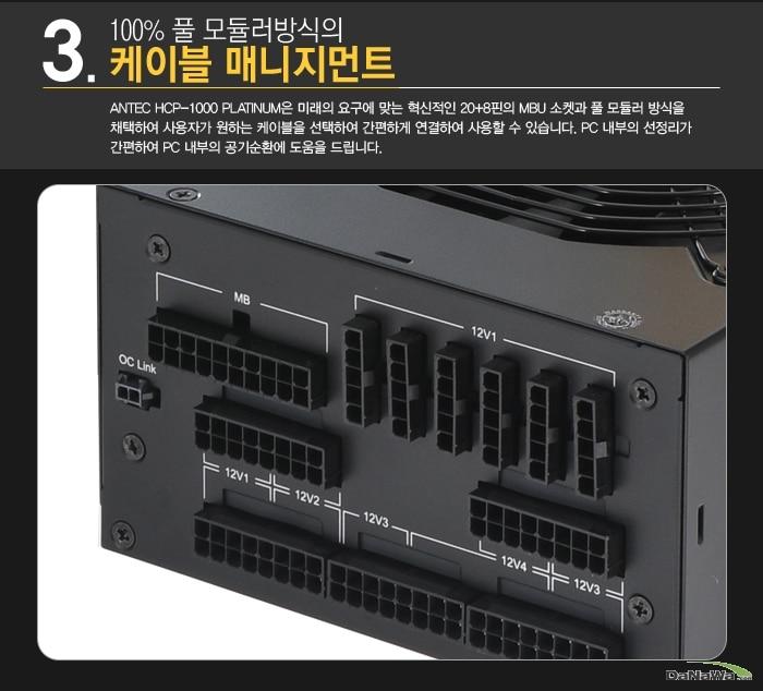Antec HCP-1000 PLATINUM의 케이블 매니지먼트