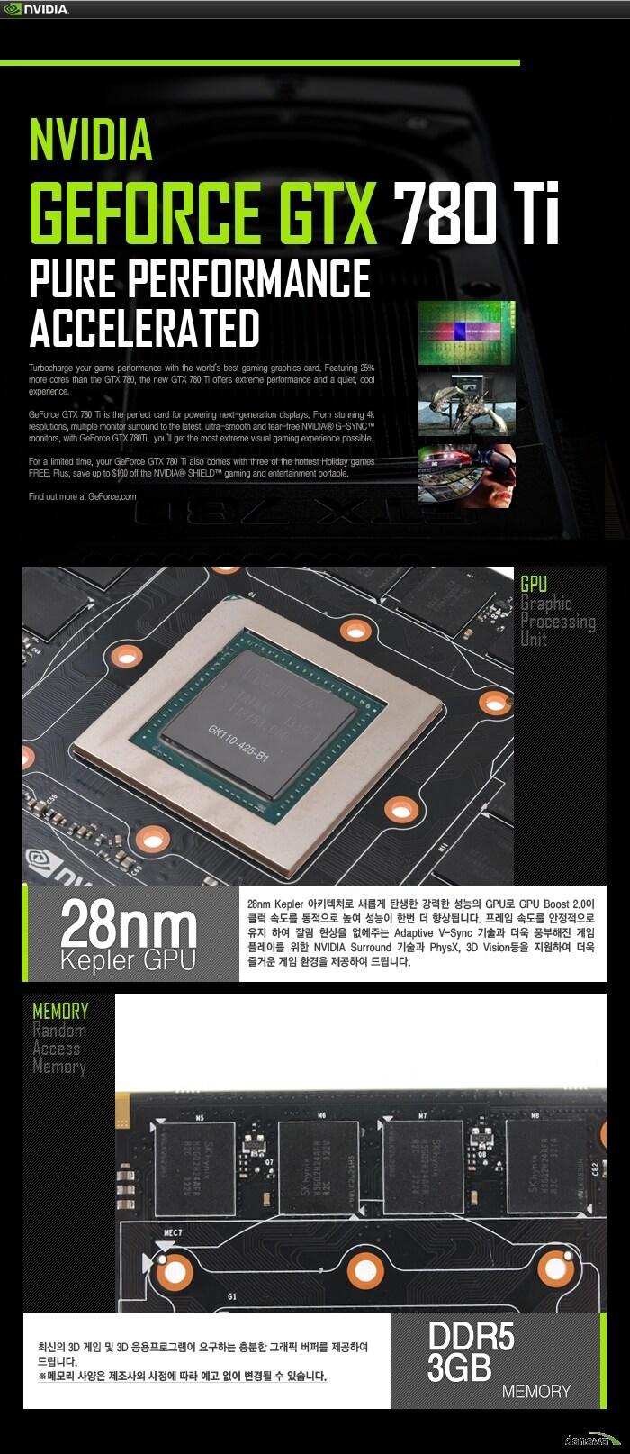 이엠텍 지포스 GTX 780Ti D5 3GB GPU / 메모리