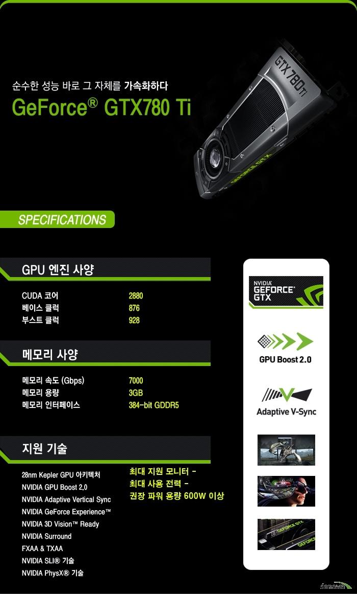 이엠텍 지포스 GTX 780Ti D5 3GB 스펙