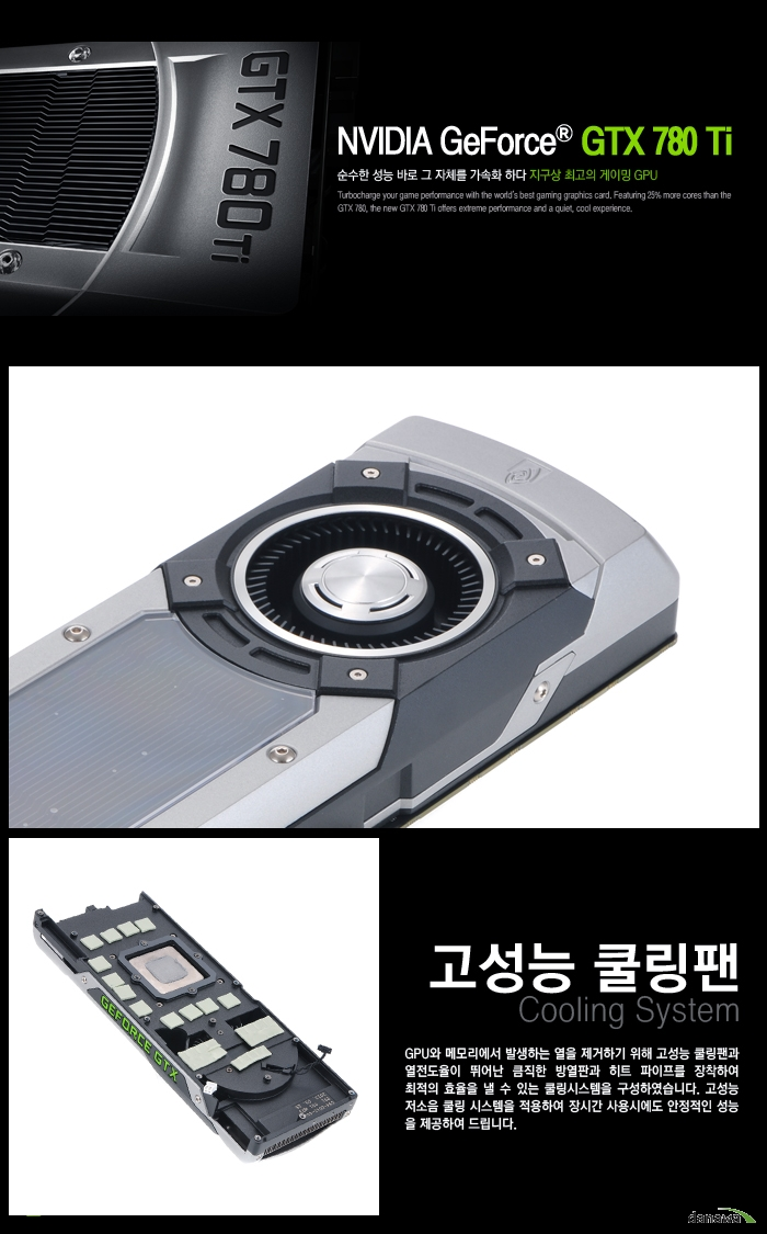 이엠텍 지포스 GTX 780Ti D5 3GB 쿨링팬