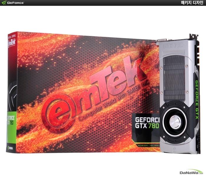 이엠텍 지포스 GTX780 D5 3GB의 패키지 디자인