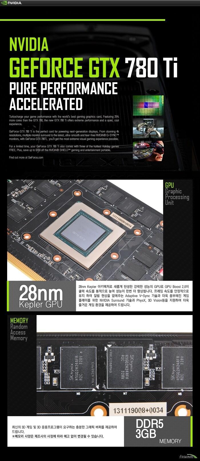 XENON 지포스 GTX780 Ti JETSTREAM D5 3GB GPU / 메모리