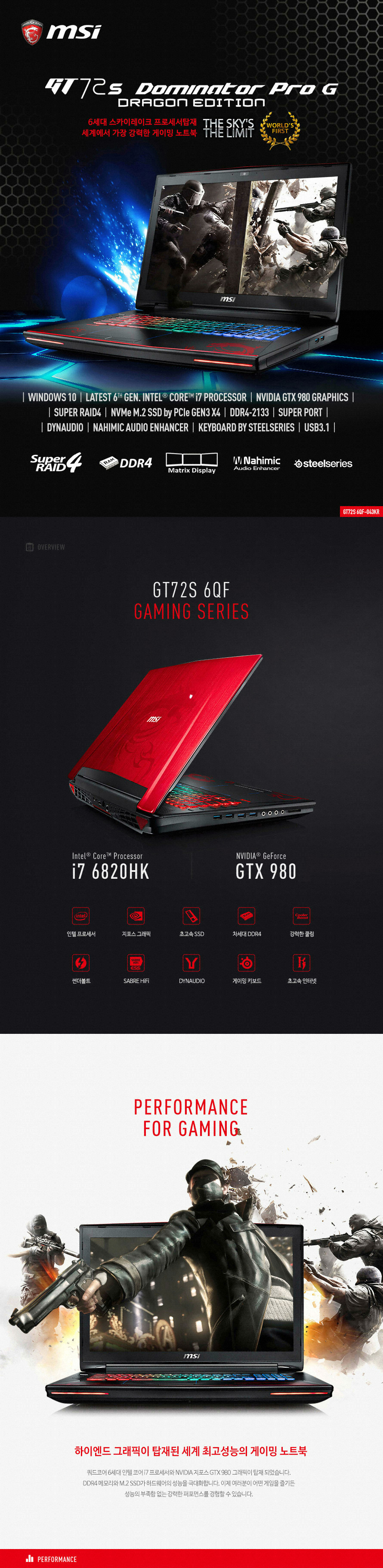 Msi Gt72s 6qf Dominator Pro G Dragon Gaming Laptop Edition