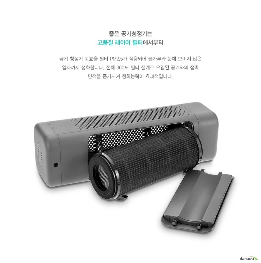 좋은 공기청정기는 고품질 레이어 필터에서부터공기 청정기 고효율 필터 PM2.5가 적용되어 꽃가루와 눈에 보이지 않은 입자까지 정화합니다. 전체 360도 필터 설계로 오염된 공기와의 접촉 면적을 증가시켜 정화능력이 효과적입니다.