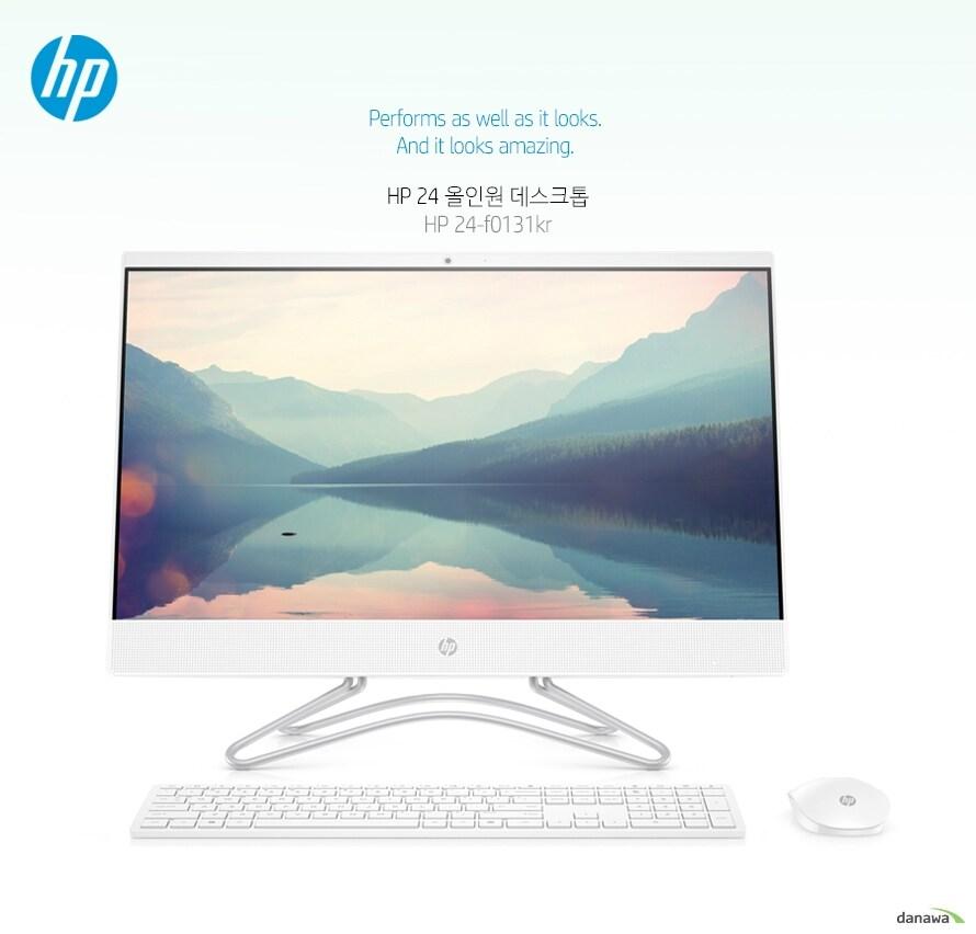 Performs as well as it looks.  And it looks amazing.   완벽한 홈오피스를 위한 다재다능한 성능과 세련된 디자인 HP 올인원 데스크톱은 다재다능한 성능에 감각적이고 모던한 디자인까지 겸비한 홈오피스 PC입니다. 넓은 저장 공간으로 온 가족이 함께 보는 영화, 추억이 담긴 사진 등 많은 양의 데이터도 여유있게 보관할 수 있으며, 밝고 화사한 스노우 화이트 컬러 디자인이 공간에 생기를 불어 넣으며 세련된 홈 인테리어를 완성합니다. 우리 가족을 위한 올인원으로 최상의 홈 컴퓨팅을 경험하세요. 인텔 펜티엄 실버가 문서 작업, 인터넷, 영화 감상, 사진 편집 등 일상 생활 및 사무 작업에 필요한 다양한 기능을 원활하게 수행합니다.   HDD에 비해 월등히 빠른 속도의 PCIe NVMe M.2 SSD가 빠른 부팅 및 응용 프로그램 로딩 속도를 제공합니다.  FHD 고해상도 IPS 패널 디스플레이가 선명하고 생생한 이미지와 영상을 구현하며, 마이크로 엣지 베젤이 화면의 생동감을 극대화합니다.   밝고 화사한 인테리어를 완성하는 모던 디자인 감각적이고 모던한 디자인으로 완성된 HP 올인원 데스톱을 만나보세요. 밝고 화사한 스노우 화이트 컬러가 공간에 생기를 불어 넣으며, 후면에 더해진 스타일리시한 원단 패턴이 세련된 홈 인테리어를 완성합니다.  인체 공학적 디자인의 틸트 기능 사용자의 시야각에 맞게 화면의 기울기를 조절할 수 있는 틸트 기능으로, 오랜 시간 동안 피로를 느끼지 않고 컴퓨터를 쾌적하게 사용할 수 있습니다.  예술적 감각의 후면 디자인  후면의 스타일리시한 원단 패턴이 스노우 화이트 컬러의 예술적인 바디와 더불어 감각적인 홈 인테리어를 완성합니다.  깔끔한 공간 활용을 위한 무선 키보드 마우스  지저분한 케이블이 필요 없는 무선 키보드 및 무선 마우스의 올인원 디자인으로 공간을 깔끔하게 유지할 수 있습니다.   완벽한 홈오피스 컴퓨팅을 위한 강력한 성능 인텔 펜티엄 실버 프로세서와 빠른 속도의 NVMe M.2 SSD가  최상의 홈오피스 컴퓨팅 경험을 선사합니다.  영화 감상, 웹 서핑 등 일상적인 사용부터 사무 작업까지 다양한 용도에 편리하게 활용할 수 있습니다.   인텔 펜티엄 실버는 제미니 레이크 아키텍처를 기반으로 하며, 뛰어난 성능을 바탕으로 문서 작업, 인터넷 웹 브라우징, 영화 및 스포츠 감상, 사진 편집 등 일상 생활 및 사무 작업에 필요한 다양한 기능을 원활하게 수행합니다. 빠른 속도의 Wi-Fi를 지원하여 쾌적한 동영상 콘텐츠 스트리밍 환경을 제공하며, HD 영화 등 대용량 파일도 빠른 속도로 다운받을 수 있습니다.   PCIe NVMe M.2 SSD는 HDD에 비해 최대 17배 빠른 읽기 속도를 바탕으로 빠른 부팅 및 응용 프로그램 로딩 속도를 제공합니다.   선명하고 생동감 넘치는 디스플레이 FHD 고해상도 디스플레이가 선명하고 생생한 이미지와 영상을 구현합니다. 또한, IPS 패널 적용으로 어느 각도에서 화면을 보아도 색이나 명암의 왜곡이 없어 활용 폭이 더욱 넓습니다. 모니터의 테두리가 거의 보이지 않는 마이크로 엣지 베젤이 영상과 이미지의 생동감을 극대화합니다.  마이크로 엣지 베젤 디스플레이의 3면(좌,우,상단)에 테두리가 거의 보이지 않는 마이크로 엣지 베젤이 적용되어 있어 높은 몰입감으로 영화 등을 감상할 수 있습니다. 추가 모니터를 연결하여 파노라마 화면을 구성할 수도 있습니다.   IPS 광시야각 패널 IPS 패널의 넓은 광시야각으로 어느 각도에서 화면을 보아도 색이나 명암의 왜곡이 없습니다. 친구들과 함께 영화를 보거나, 사무실에서 여러 구성원이 함께 회의를 할 때 어느 위치에서 보더라도 선명히 볼 수 있습니다 1920 x 1080 고해상도 1920 x 1080 FHD 고해상도 디스플레이로 선명하고 생생한 영상과 이미지를 볼 수 있습니다. 영화와 스포츠를 더욱 실감나게 즐기고, 디자인 작업을 보다 정교하게 할 수 있습니다.  프라이빗 HD 카메라 HD 카메라를 통해 화상 채팅으로 멀리 있는 가족, 친구들과 대화할 수 있습니다. 카메라를 사용