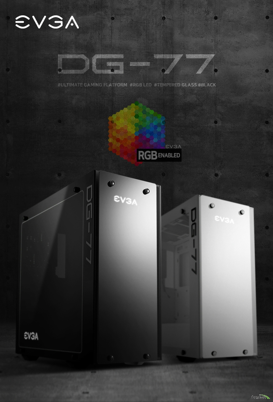 EVGA DG-76 전세계 모든 게이머의 명품 드디어 대한민국에 상륙. 앞태와 뒤태 모두 완벽한 게이밍 케이스 디자인 BACK PANNEL COVER와 RGB LOGO LED. 지금까지, 어디에도 없었던 게이밍 PC를 만드세요 FULL RGB LIGHTING CONTROL 지원 수직 방향 그래픽카드 장착과 편리한 부품 구성 EVGA의 기술력이 집약된 최적의 샤시 설계. 아름다운 나만의 PC를 완성하는 2면 강화유리 파워 가림막 설계로 더 깔끔하고 편리한 PC 조립 고풍량, 저소음 120mm 쿨링팬 x3 기본 장착 최적의 공기 흐름으로 압도적인 쿨링 퍼포먼스. 편리한 저장 장치 구성의 탈착식 SSD / HDD 베이 PC의 깔끔한 정리를 돕는 Cable Management. 전후좌우 어디에도 군더더기 없는 깔끔함 EVGA가 선사하는 하이엔드 게이밍 감성. 압도적인 품질 자신감 3 Year Warranty 업계를 선도하는 최상의 서비스와 품질