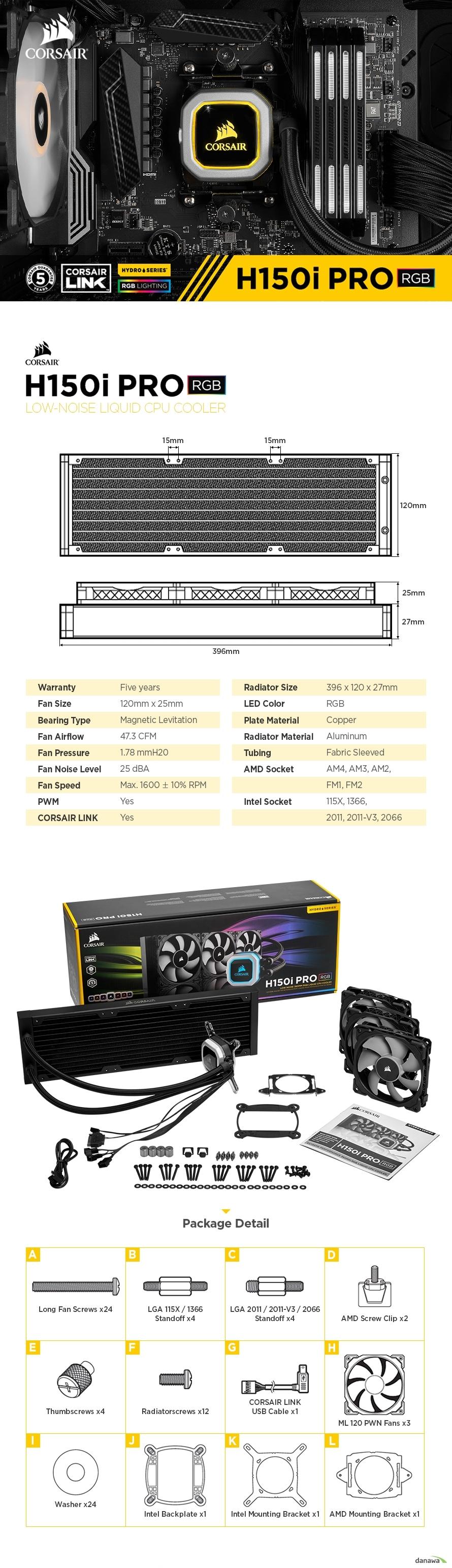 120mm x 25mm, Magnetic Levitation, 47.3 CFM, 1.78 mmH20, Max. 1600 RPM
